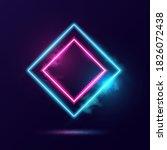 glowing neon lighting frame... | Shutterstock .eps vector #1826072438