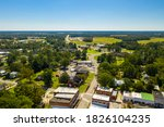 Beautlful aerial photo of downwntown Richlands, NC
