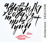 expressive calligraphic script. ... | Shutterstock .eps vector #182611448
