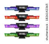 modern digital score board... | Shutterstock .eps vector #1826142365