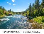 The Spokane River Running...