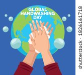 global handwashing day campaign ...   Shutterstock .eps vector #1826161718