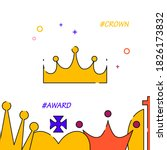 royal crown filled line icon ...