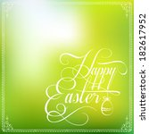 happy easter typographical... | Shutterstock .eps vector #182617952