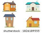 villa of house cartoon set icon. | Shutterstock .eps vector #1826189555