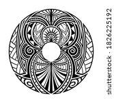 maori circle tattoo shape ...   Shutterstock .eps vector #1826225192