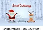 Santa And Reindeer Social...