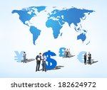 group of business people... | Shutterstock . vector #182624972