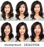 young woman with different... | Shutterstock . vector #182625506