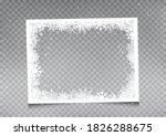 snowy rectangular frame... | Shutterstock .eps vector #1826288675