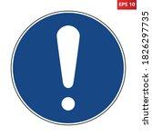 general mandatory action sign....   Shutterstock .eps vector #1826297735