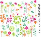 floral collection   Shutterstock .eps vector #182630162