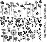 floral collection   Shutterstock .eps vector #182630168