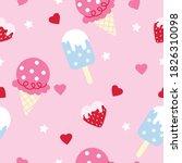 seamless pattern ice cream on... | Shutterstock .eps vector #1826310098