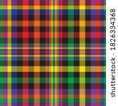 rainbow glen plaid textured... | Shutterstock .eps vector #1826334368