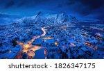Panoramic Winter View Of...