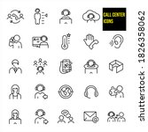 call center thin line icons   ... | Shutterstock .eps vector #1826358062