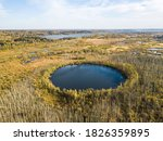 bottomless circle lake autumn... | Shutterstock . vector #1826359895