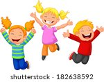 happy kid cartoon | Shutterstock .eps vector #182638592