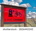 e bike charger station on... | Shutterstock . vector #1826442242