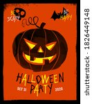 halloween party invitation ... | Shutterstock .eps vector #1826449148