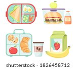 vector set of lunch boxes.... | Shutterstock .eps vector #1826458712