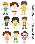 illustration of the kids... | Shutterstock . vector #182649092