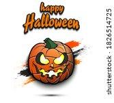 happy halloween. template... | Shutterstock .eps vector #1826514725
