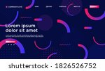 geometric background bright... | Shutterstock .eps vector #1826526752