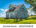 Old  Abandoned Blue Prairie...