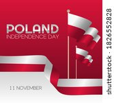poland independence day vector... | Shutterstock .eps vector #1826552828