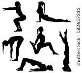 women's movement. girls are... | Shutterstock .eps vector #182657312