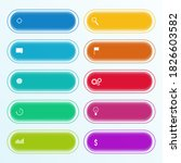 colorful infographic with icons ... | Shutterstock .eps vector #1826603582