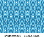 colorful geometric seamless... | Shutterstock .eps vector #182667836