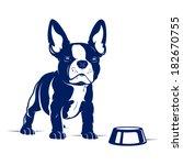 cartoon french bulldog. vector... | Shutterstock .eps vector #182670755