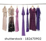 row of colorful female fashion... | Shutterstock . vector #182670902
