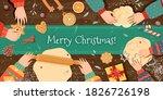christmas ginger cookies....   Shutterstock .eps vector #1826726198