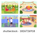 indian holidays flat color... | Shutterstock .eps vector #1826726918