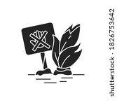 don t move plants black glyph...