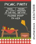 picnic party | Shutterstock .eps vector #182676008