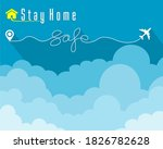 stay at home  less travel out...   Shutterstock .eps vector #1826782628