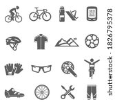 bicycle  parts  marathon bold...   Shutterstock .eps vector #1826795378
