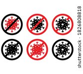 coronavirus  2019 ncov  covid... | Shutterstock .eps vector #1826808818
