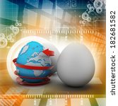 global egg rounded with arrow | Shutterstock . vector #182681582