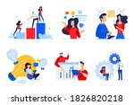 set of people concept... | Shutterstock .eps vector #1826820218