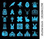 Catholic 25 Filled Icon Set...