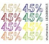 forty five percent vector... | Shutterstock .eps vector #1826880815