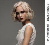 Portrait Of Attractive Blonde...