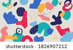 scribble collage background....   Shutterstock .eps vector #1826907212