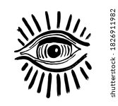 grunge hand drawn eye of...   Shutterstock .eps vector #1826911982